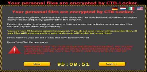بد افزار CTB Locker در کشور در حال گسترش است.