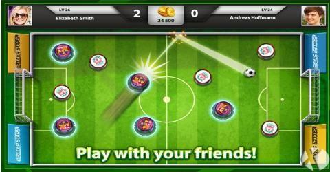 فوتبال انگشتی چند نفره آنلاین اندروید با Soccer Stars