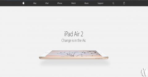 طراحی مجدد وب سایت اپل