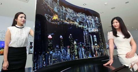 ال جی در حال توسعه تلویزیون دو طرفه ۴k و OLED