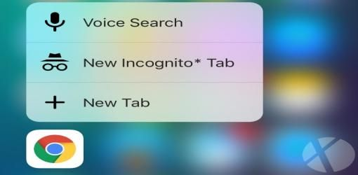 مرورگر کروم برای IOS آپدیت شد ، قابلیت ۳d touch و bluetooth
