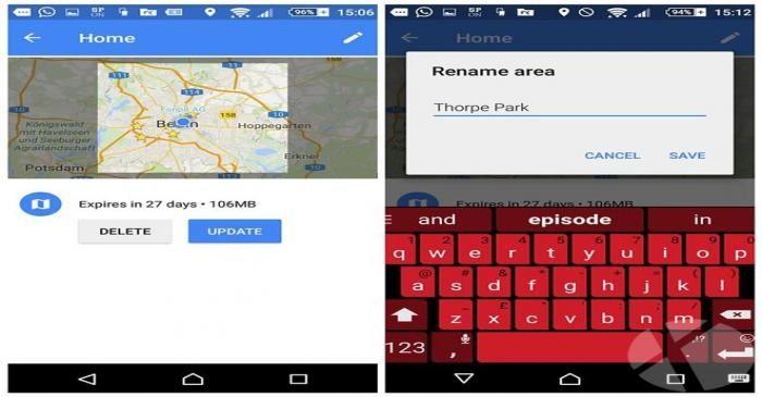 ذخیره و استفاده آفلاین از Google Maps