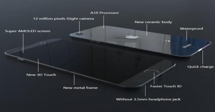 رندر جدید آیفون ۷ از قابی سرامیکی، پنل Super AMOLED و طراحی ضدآب آن خبر میدهد